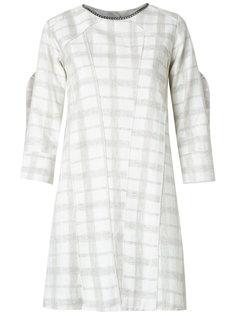 plaid shift dress Andrea Bogosian