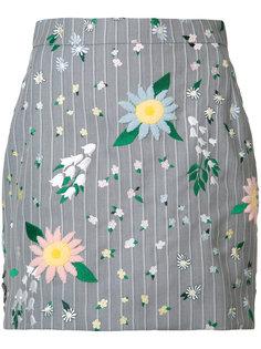 мини юбка с цветочным принтом Thom Browne