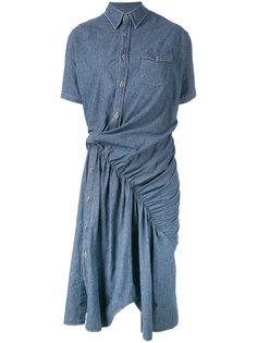 асимметричное джинсовое платье  Junya Watanabe Comme Des Garçons