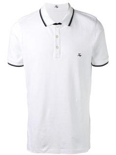 футболка-поло с контрастной окантовкой Fay
