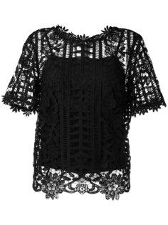 floral lattice lace top Blugirl