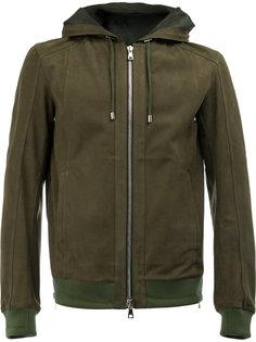 замшевая куртка с капюшоном Balmain