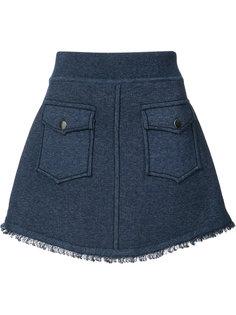 мини юбка с накладными карманами Derek Lam 10 Crosby