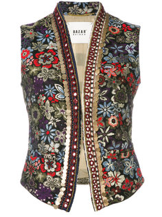 жилет с цветочной вышивкой Bazar Deluxe