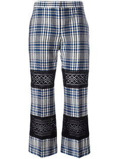 укороченные брюки с кружевной вставкой Alexander McQueen