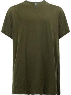 футболка с разрезом на вырезе Yohji Yamamoto