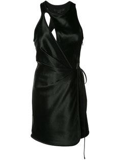 приталенное платье с вырезной деталью Alexander Wang