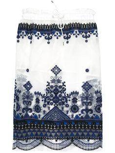 юбка с прозрачным слоем Sacai