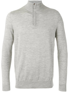 The Regent fine gauge half zip jumper N.Peal