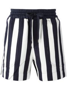 полосатые шорты с эластичным поясом Andrea Pompilio