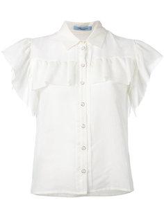 блузка с оборками  Blumarine