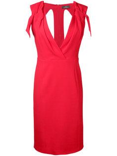 облегающее платье с V-образным вырезом Capucci