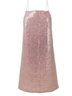 платье с бусинами и пайетками Adam Selman
