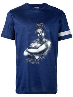 футболка с отливом и принтом женщины Lanvin
