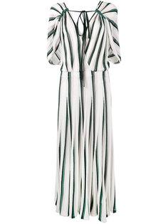 платье с полоску Adam Lippes