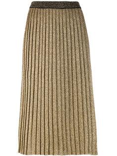 плиссированная юбка вязки металлик Tory Burch