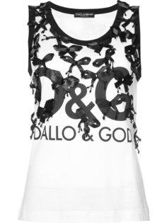 топ с аппликацией бантов Dolce & Gabbana