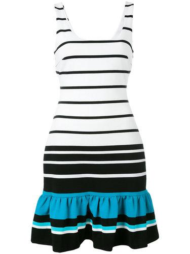 полосатое платье с оборчатым подолом Michael Michael Kors