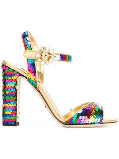 босоножки с пайетками Dolce & Gabbana