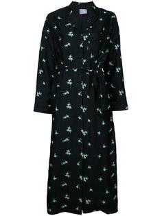 платье-рубашка с длинными рукавами и вышивкой  Cityshop