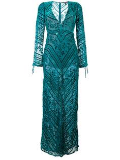 velvet deep V-neck gown For Love And Lemons
