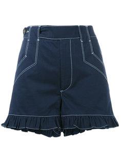 шорты с оборками  Ganni