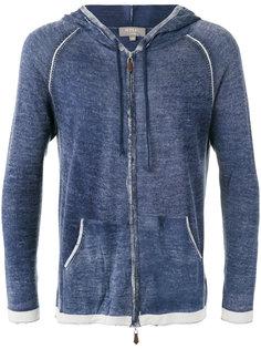 printed long sleeve hoodie N.Peal