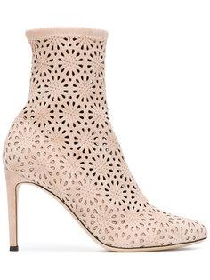 floral laser cut booties  Giuseppe Zanotti Design