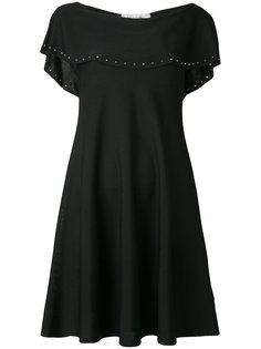 платье шифт с оборками на рукавах  Valentino