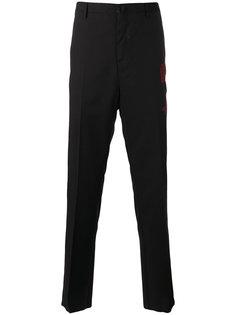 брюки с вышитой стрелой Lanvin