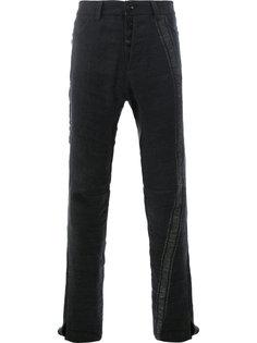 брюки с фактурной вставкой  Cedric Jacquemyn