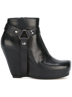 harness wedge ankle boots Rick Owens