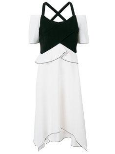 асимметричное платье с открытыми плечами Proenza Schouler