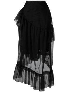 прозрачная многослойная юбка Simone Rocha