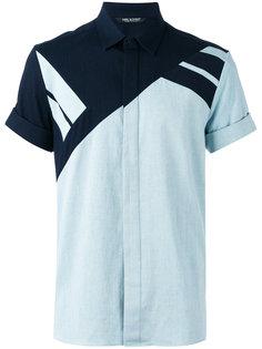 рубашка с контрастными панелями Neil Barrett