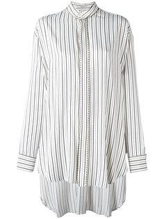 полосатая рубашка с удлиненной спиной Etro