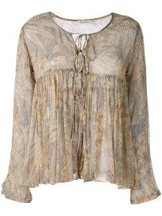 блузка с рюшами и принтом пальм Mes Demoiselles