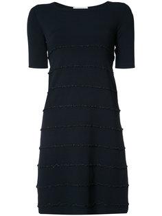 ruffle trim short sleeve dress D.Exterior