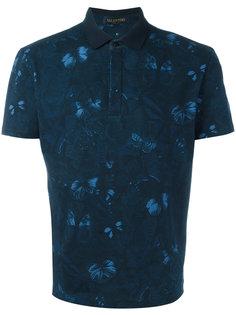 футболка-поло с принтом бабочек Valentino