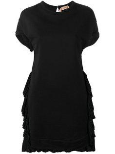 платье с плиссированными вставками Nº21