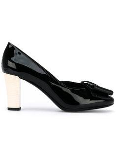 туфли-лодочки с контрастным каблуком Lanvin