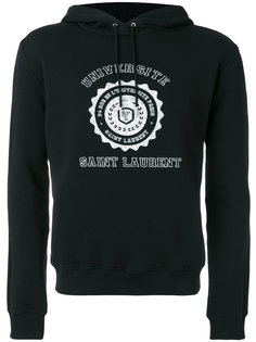 Saint Laurent Université seal printed hoodie Saint Laurent