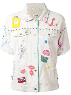 пиджак с вышивкой P.A.R.O.S.H.