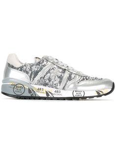 кроссовки Diane с пайетками Premiata White