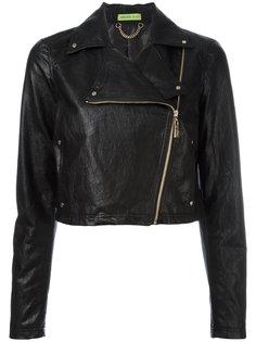 асимметричная байкерская куртка Versace Jeans