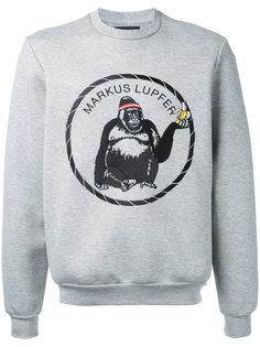 толстовка с вышитым логотипом-гориллой  Markus Lupfer