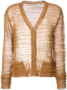 sheer knitted cardigan Simon Miller