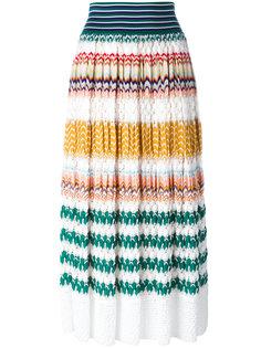 трикотажная юбка с узором зигзаг Missoni