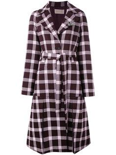 plaid pattern coat Christopher Kane