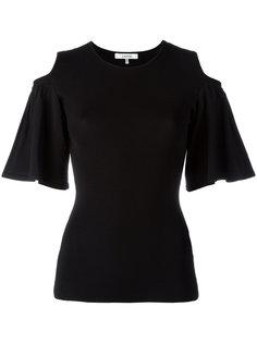 блузка с вырезами на плечах Ganni